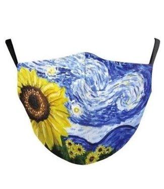 Face Mask Sun Flowers Cotton, Washable/Reusable SL- 2