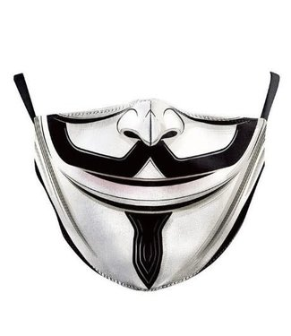 Face Mask V For Vendetta Cotton, Washable/Reusable SL