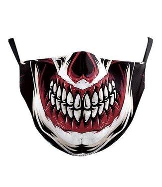 Face Mask Clown Skull Cotton, Washable/Reusable SL- 2