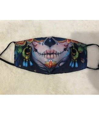 Face Mask Sugar Skull Female, Washable/Reusable SL