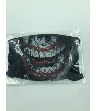 Face Mask Skeleton Smile Black, Made In USA