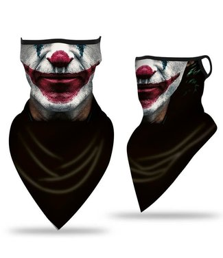 Neck Gaiter, Scary Clown Red Lips And Nose