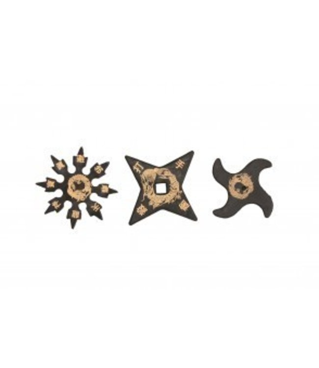 Throwing Stars, Rubber - 3 Piece Set 5 inch