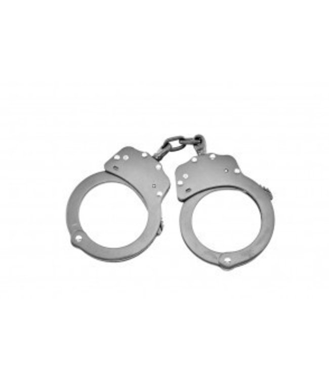 Handcuffs Stainless Steel Double Lock With Chain
