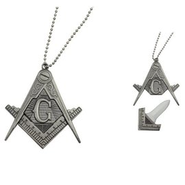Freemason Necklace Knife w/Hidden Knife