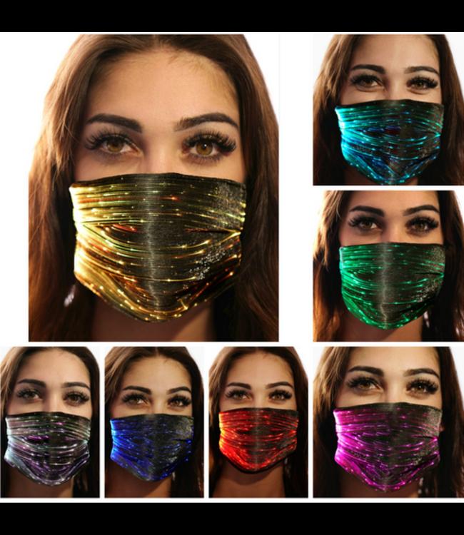Face Mask Black PM2.5 with LED Light Modes
