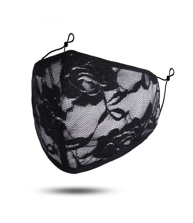 Face Mask Lace Front, Cotton Washable/Reusable SL