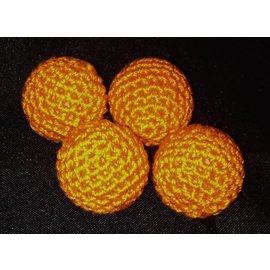 Ronjo Crocheted Balls Acrylic 4 pk, 3/4 inch - Orange (M8)