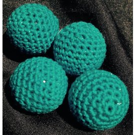 Ronjo Crocheted Balls Acrylic 4 pk, 3/4 inch - Turquoise (M8)