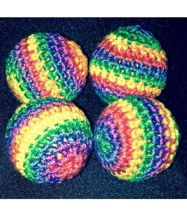 Ronjo Crocheted Balls Cork 4 pk, 3/4 inch - Rainbow (M8)
