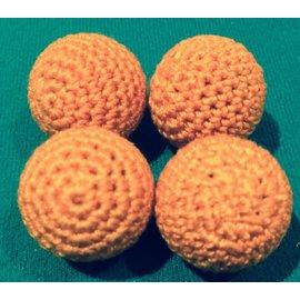 Ronjo Crocheted Balls Cork  4 pk, 5/8 inch - Orange (M8)