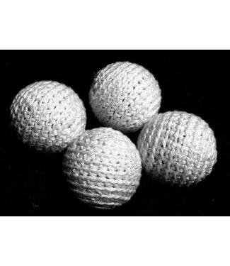 Ronjo Crocheted Balls Cork 4 pk, 1 inch - White (Reversed)
