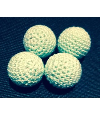 Ronjo Crocheted Balls Wood 4 pk, 3/4 inch - Pastel Green (M8)