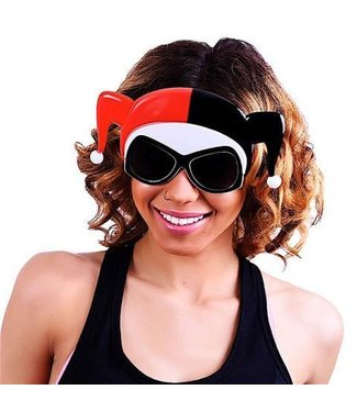 Sun-Staches Sunglasses Harley Quinn Face Sunstaches
