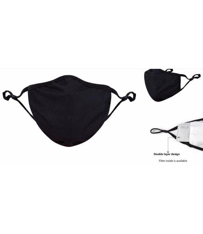 Face Mask Cotton, Black Washable/Reusable