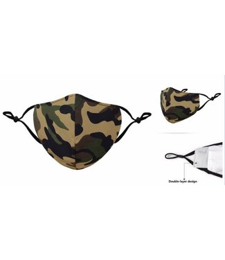 Face Mask Camo Green Cotton