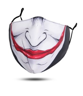 Face Mask Jester Smile, Washable/Reusable SL
