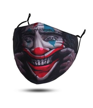 Face Mask Clown Full Image, Washable/Reusable SL