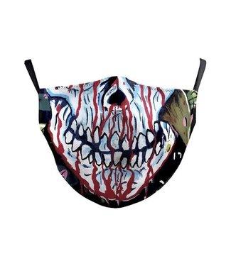 Face Mask Bleeding Skull Cotton, Washable/Reusable SL