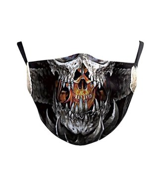 Face Mask Skull Teeth Cotton, Washable/Reusable SL- 1