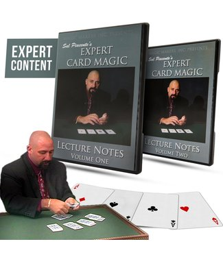 Pre-Viewed Expert Card Magic Lecture Notes by Sal Piacente 2 DVD Set