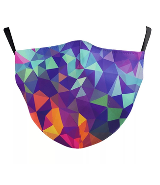 Face Mask Triangles Design, Cotton, Washable/Reusable SL