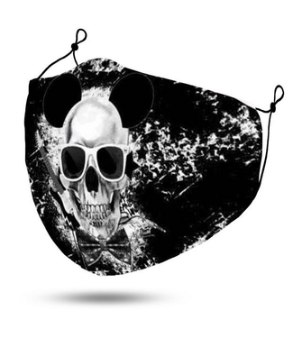 Face Mask Skull with Sunglasses, Washable/Reusable SL- 1