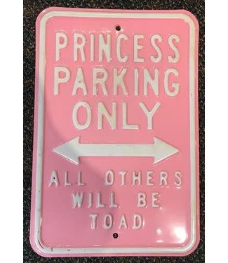 USED Princess Parking Only Novelty Sign, Metal