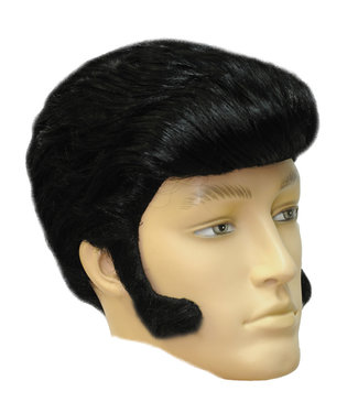 Morris Costumes and Lacey Fashions Wig Elvis Style, Black 82