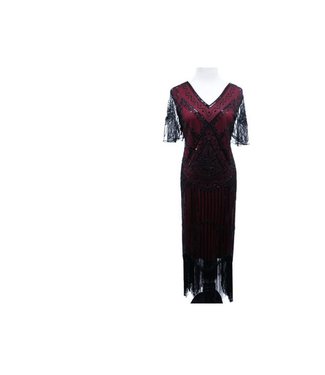 WF 2535 – Flapper Dress Art Deco Burgundy