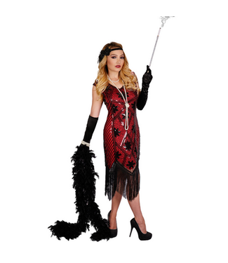 WF 2585 – Art Deco Flapper Dress- Red