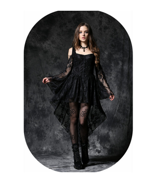 WF DW053 – Black Off-Shoulder Dress with Lace