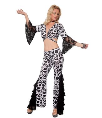 WF 4130 – Disco Costume, 2 Pc. Set – Includes Bolero Top and Pants Size S/M