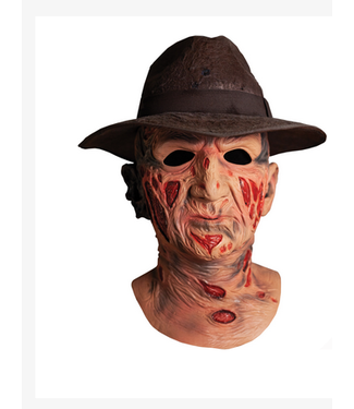 Deluxe Freddy Krueger Mask With Hat - A Nightmare on Elm Street