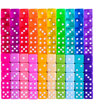 Miami Dice Each 16mm - Asst Colors