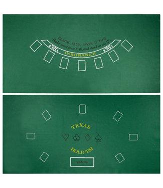 Blackjack and Texas Hold'em Reversible Felt Layout