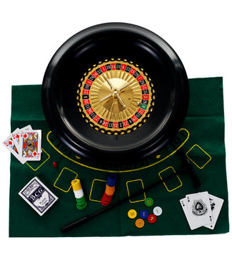 Trademark Poker 16 Inch Roulette and Blackjack Set with Accessories (345)