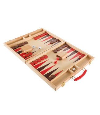 Hey! Play! Backgammon Game Set - Wooden