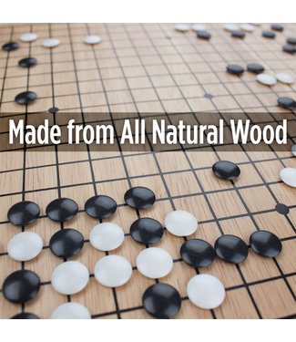 Game Of GO - Wooden Board With Stones