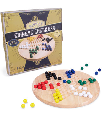 Chinese Checkers - Wooden Board and Marbles