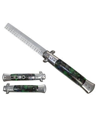 Western Fashion 4 inch Deluxe Switchblade Comb,