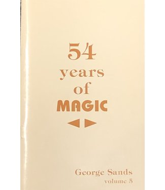 Used Book -  54 Years Of Magic Vol 5 By George Sands Soft Cover Pamphlet