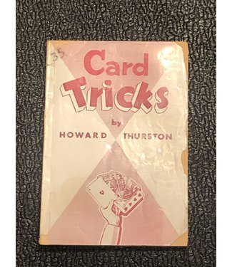 Used Book Card Tricks by Howard Thurston 1903 Soft Cover G