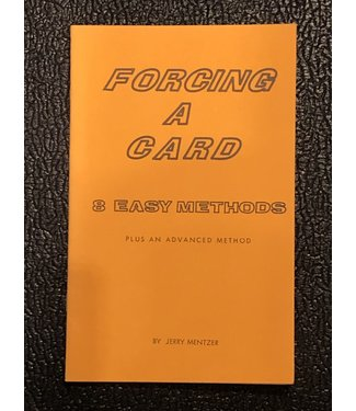 Used Book Forcing A Card 8 Easy Methods Plus An Advanced Method by Jerry Mentzer 1982 Soft Cover Pamphlet