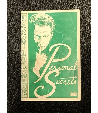 USED Personal Secrets by Harry Lorayne 1964 Good Condition