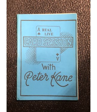 Used Book A Real Live Card Session with Peter Kane Autographed 1984 Soft Cover Pamphlet