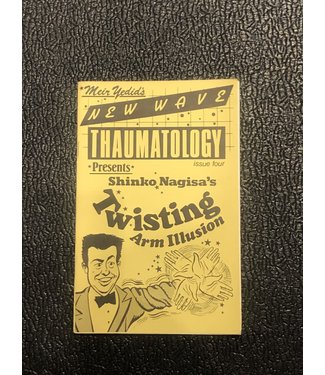 Used Book Meir Yedid's New Wave Thaumatology Issue 4 Shinko Nagisa's Twisting Arm Illusion 1989 Soft Cover Pamphlet