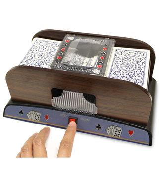 Deluxe Wooden Card Shuffler