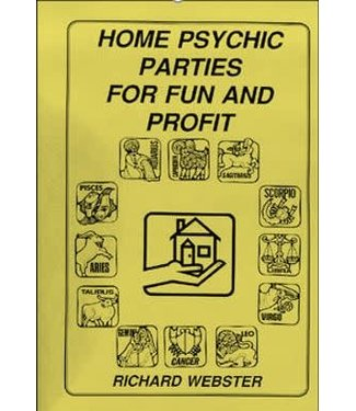 Book - Home Psychic Parties for Fun and Profit by Richard Webster and Brookfield Press (M7)