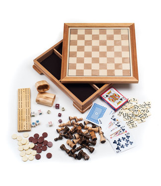 Deluxe 7-in-1 Game Set - Chess - Backgammon etc (345)